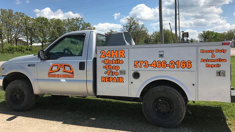 D&D Towing and Repair Truck